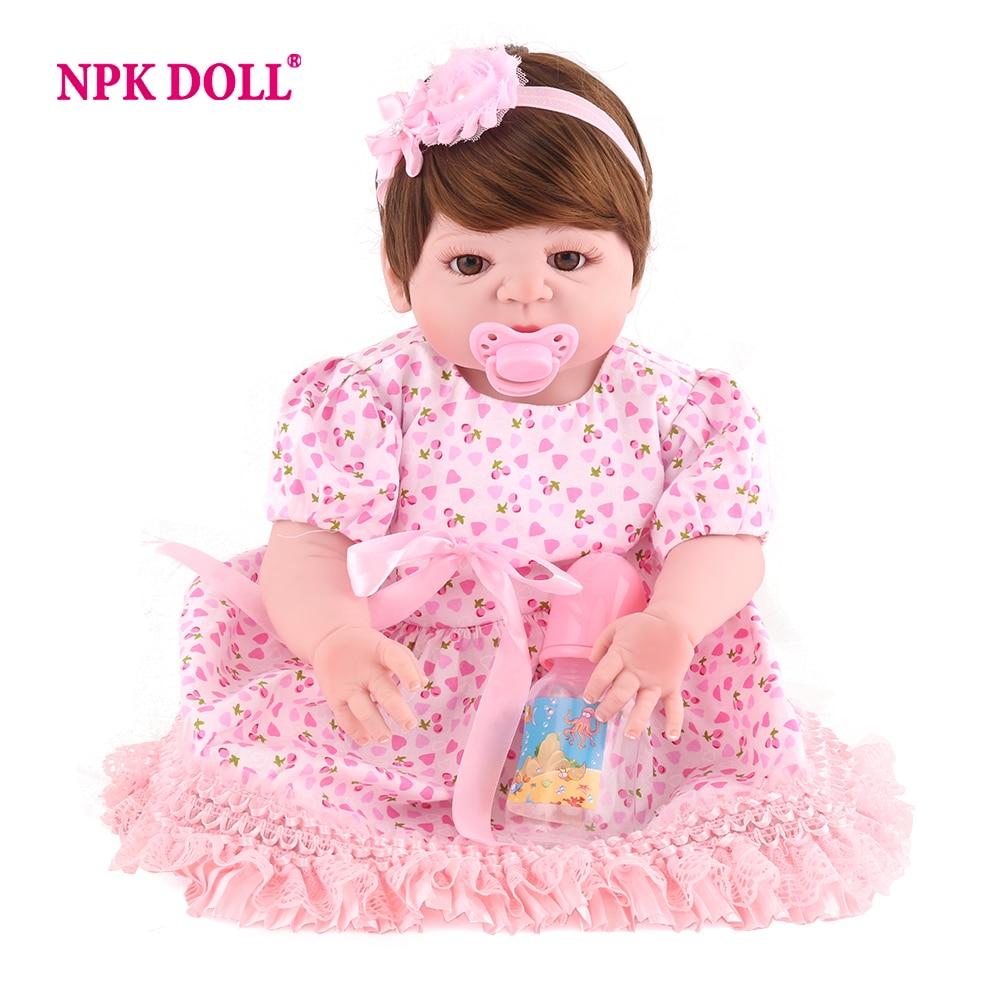 NPKDOLL muñeca 22 pulgadas marcas 55 cm de silicona muñecas de estilo de vida suave Bjd muñeca princesa muñeca juguetes para niñas Bebe renacer