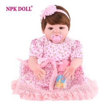 9b4151cb8 NPKDOLL muñeca 22 pulgadas marcas 55 cm de silicona muñecas de estilo de  vida suave Bjd muñeca princesa muñeca juguetes para niñas Bebe renacer