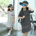Striped Shirt Dress For Girls 4 5 6 7 8 9 10 11 12 13 Years Autumn Dresses For Teenagers Girls Clothing Long Sleeve Kids Dress