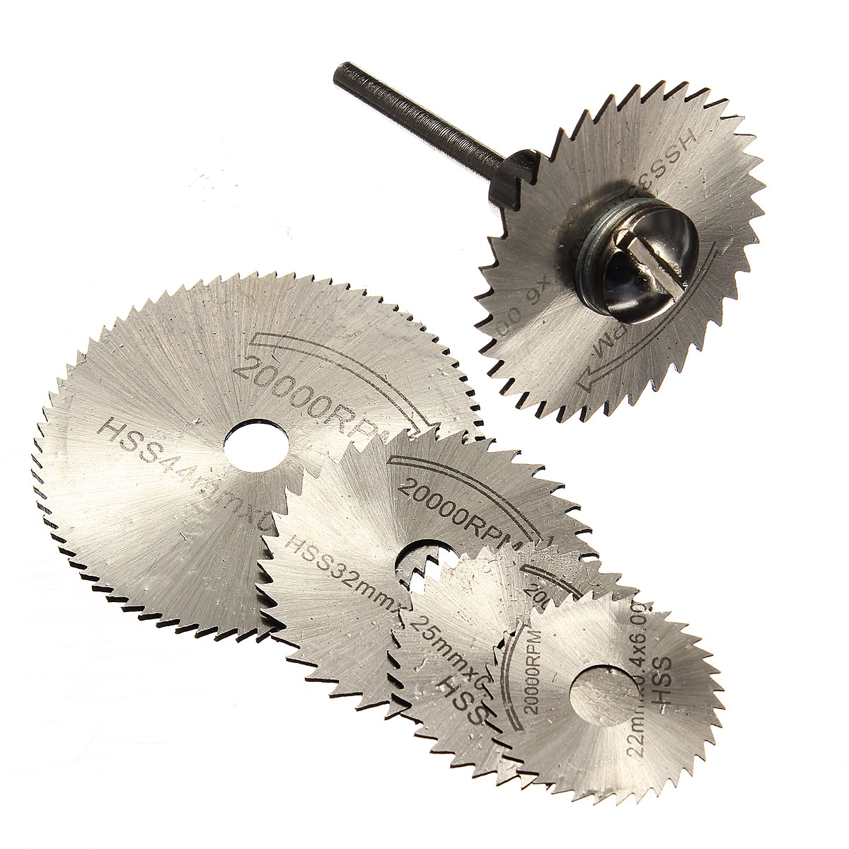 6Pcs Mini HSS Rotary Tool Circular Saw Blade Set Circular Saw Blades Cutting Discs Mandrel For Dremel Cut Off 22/25/32/35 /44mm