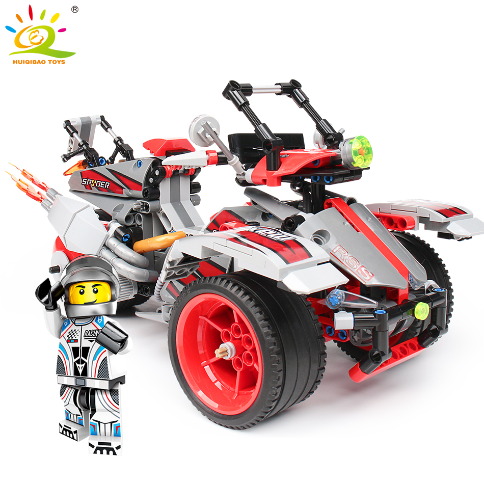 Toys & Hobbies 100% Quality 511pcs Off-road Car Building Blocks Compatible Legoing Technic Truck Voiture Bricks Pullback Car Educational Toys For Children Can Be Repeatedly Remolded.