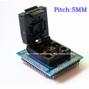 Image 4 - Adaptador de enchufe QFP64 TQFP64 LQFP64, zócalo de prueba de circuito integrado, programador de 0,5 m, toma STM32 QFP64, Envío Gratis