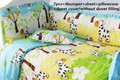 ¡ Promoción! 6/7 UNIDS caballo Bebé Juego de Cama Cuna Bumpers Productos Para Bebés Recién Nacidos de dibujos animados ropa de cama, Funda Nórdica, 120*60/120*70 cm