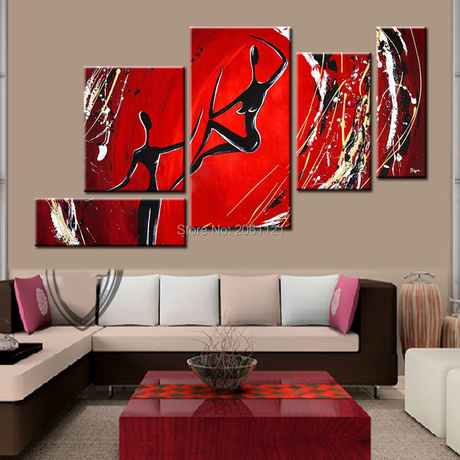 Hand Painted Modern Abstract Wall