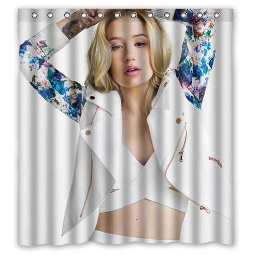 Stylish Design Bath Curtain Printed Beautiful Hip Hop Rapper Singer Iggy Azalea Sexy Pictures Custom Shower 66 X 72 In Curtains From Home