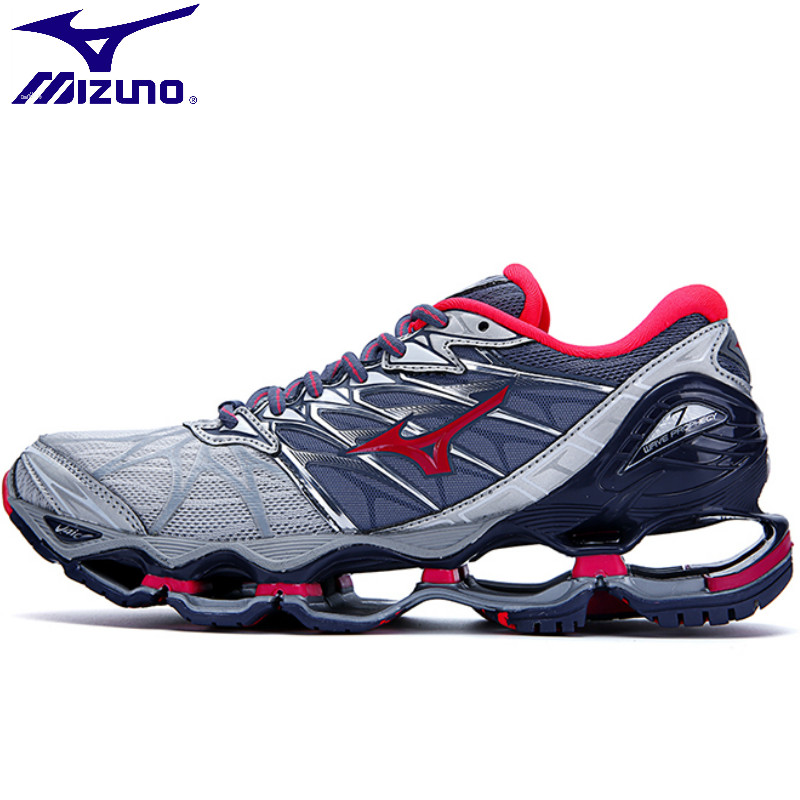 2018 Mizuno Wave Prophecy 7 Women sports Breathable Red Shoes Sports sneakers Lace Up Weightlifting Shoes