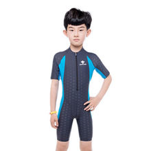 Professional bathing suit kids boy swimming suit children quick dry water sun protection diving suit students swimwear