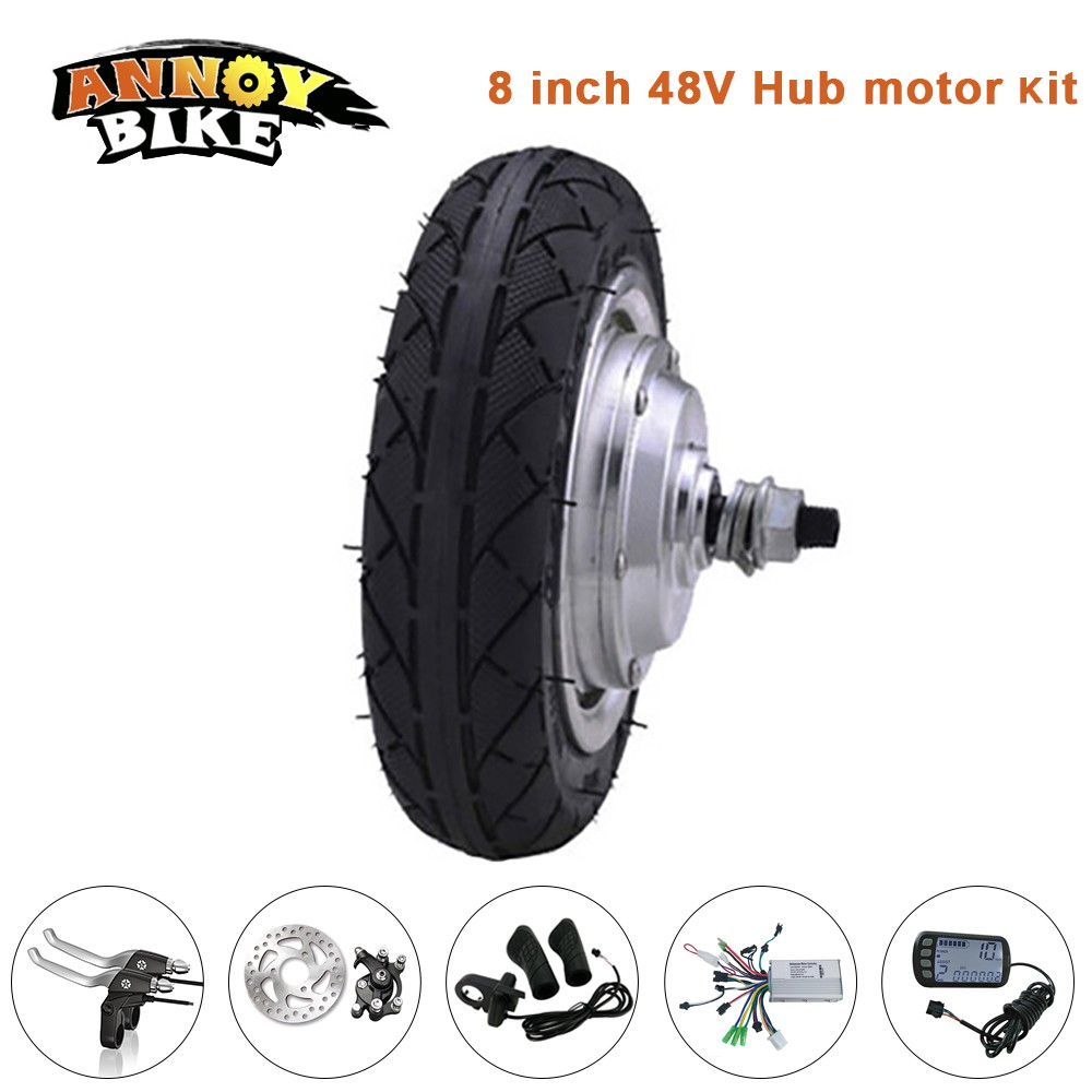 8 inch 10-30 km/h Load 120 kg Electric Bicycle Motor 48 V 250 W 350 w