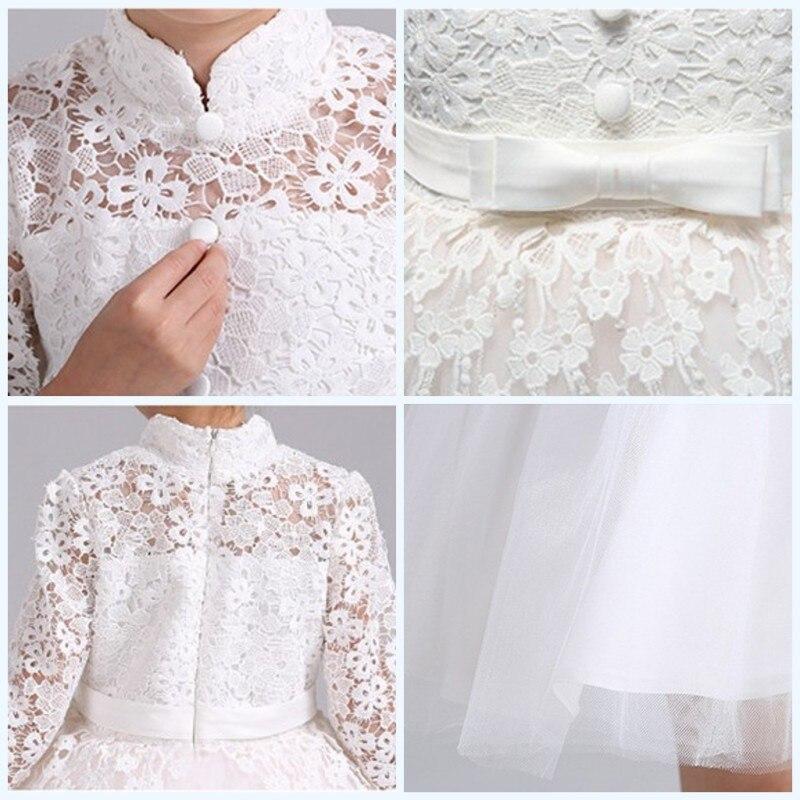 2018 для девочек в цветочек Свадебные платья для выпускного бала Вечерние белое кружевное платье одежда для малышей для маленьких детей собы...