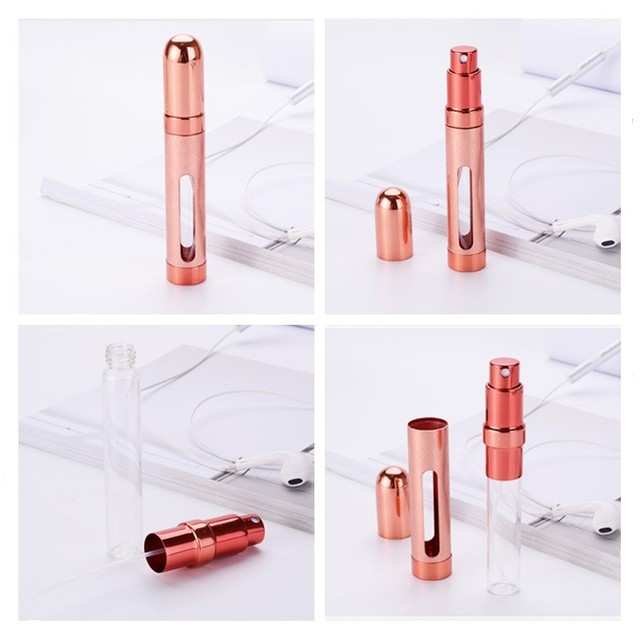 ordinary bottle 12ml 6 Colors Mini Portable Travel Perfume Atomizer Bottle Perfume Bottle For Spray Scent Pump Housing