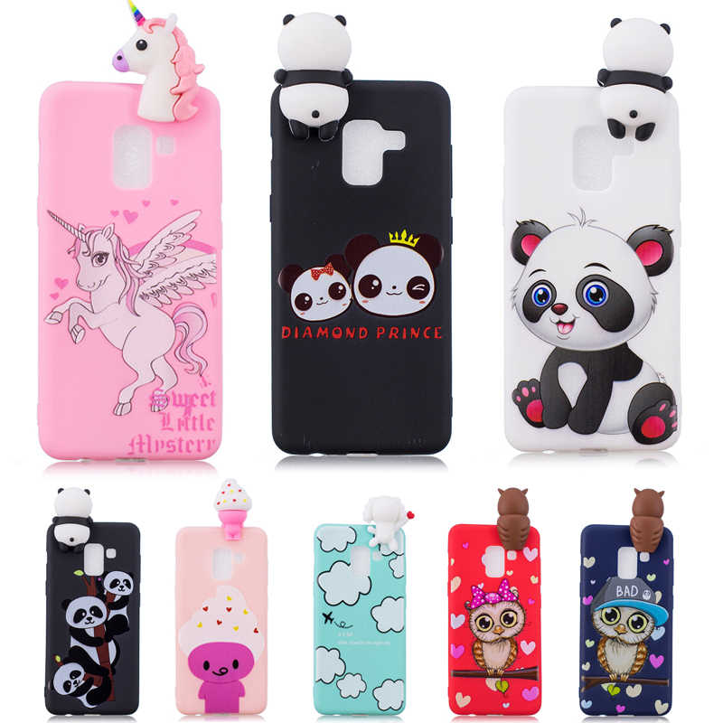 7248459f63 Detail Feedback Questions about 3D Soft Silicone TPU Case For Samsung Galaxy  A5 2018 A530F Cute Panda Owl Unicorn Phone Cases For Galaxy A8 2018 Cover  Coque ...