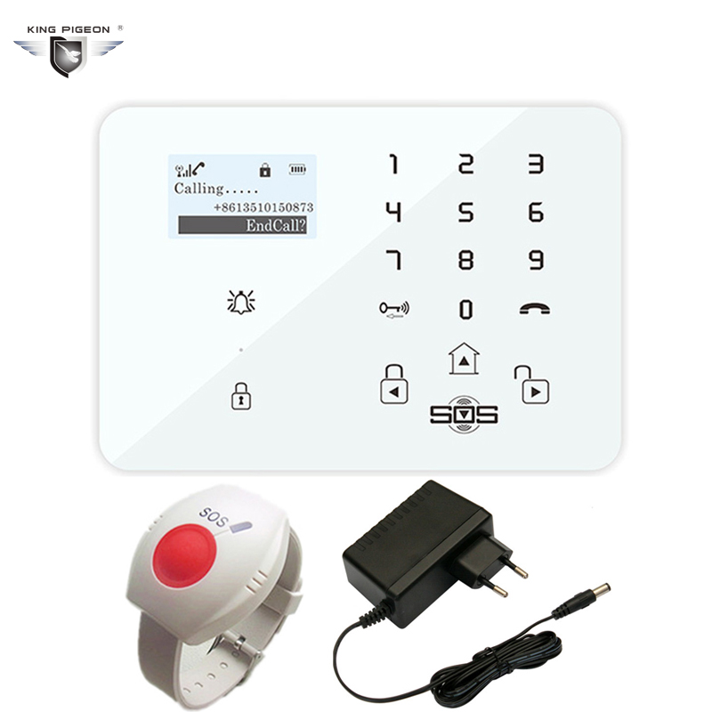 Burglar Alarm GSM Android Security System Wireless Personal Alarm Panel Home Elderly Care Helper SOS Panic Button 433MHz K9X wireless service call bell system popular in restaurant ce passed 433 92mhz full equipment watch pager 1 watch 7 call button