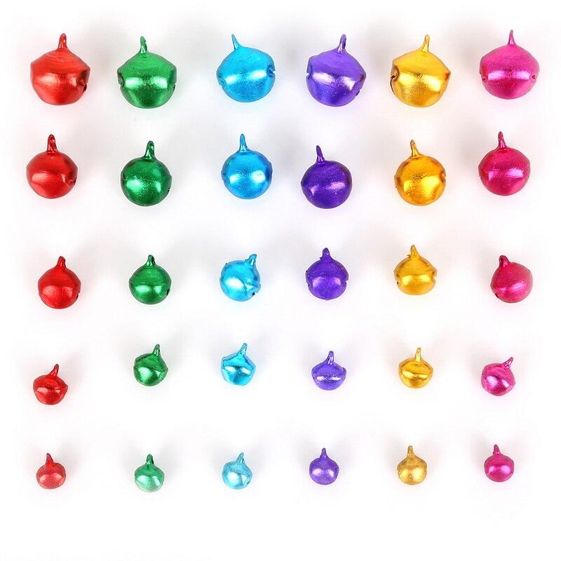 100X Jingle Bell Ergebnisse Mischfarbe 6mm 10mm Nähen auf HandwerkPZP 8mm