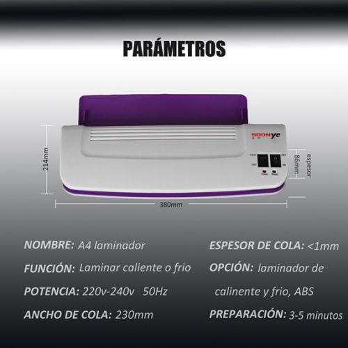 Machine de plastifieuse chaude et froide de bureau thermique professionnel pour A4 Document Photo Blister emballage plastifieuse de rouleau de Film plastique