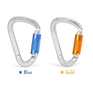 Image 1 - 25KN Twist Locking Gate Carabiner Certified Auto Lock Carabiner Outdoor D ring Buckle Climbing Rappelling Canyoning Hammock Clip