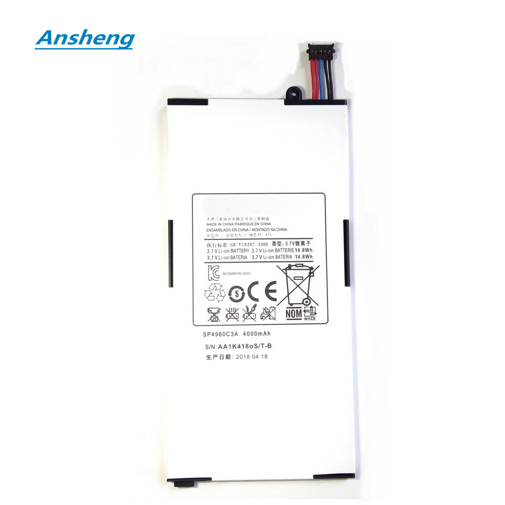 Ansheng SP4960C3A 4000mAh battery for Samsung Galaxy Tab