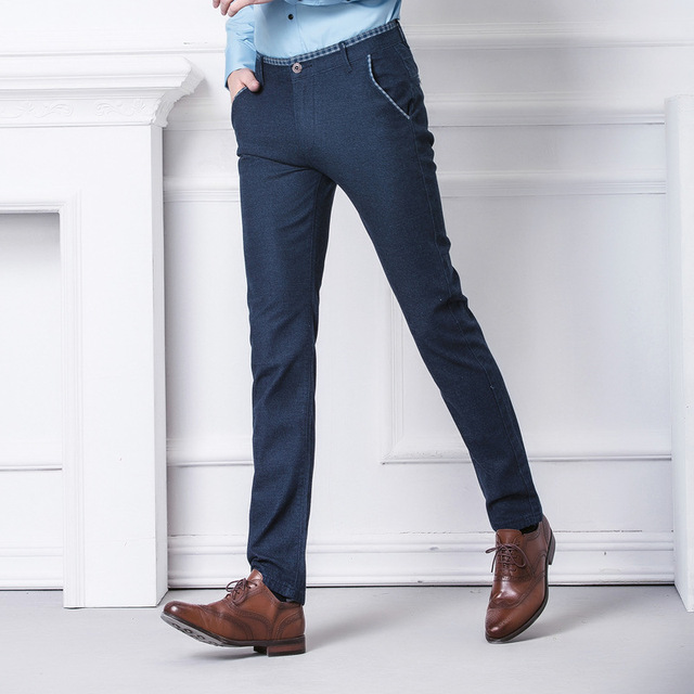 2016 Autumn/Winter Man's Cotton and linen casual pants youth straight-leg slim fit Fashion men's Stretch trousers