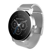 เหล็กวงนาฬิกาข้อมือผู้ชายสมาร์ทอัตราการเต้นหัวใจMonitor S Mart W Atch SMR MTK2520รอบนาฬิกาข้อมือผู้หญิงPedometerติดตามการออกกำลังกายVS GT08