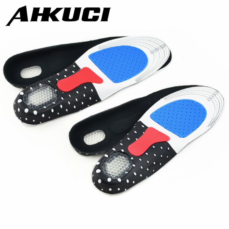 2 Pairs Men Women Free Size Unisex Orthotic Arch Support Sport Shoe Pad Sport Running Gel Insoles Insert Cushion