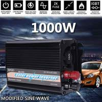 Portable Dual USB 2000W Watt DC 12V to AC 230V Car Power Inverter Charger Converter Adapter Modified Sine Wave