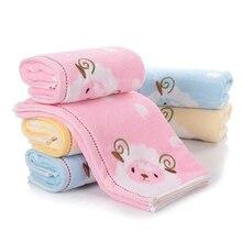 34x75cm 100% Cotton Embroidery Cartoon Animal Lamb Children Baby Absorbent Washcloth Hand Towel недорого