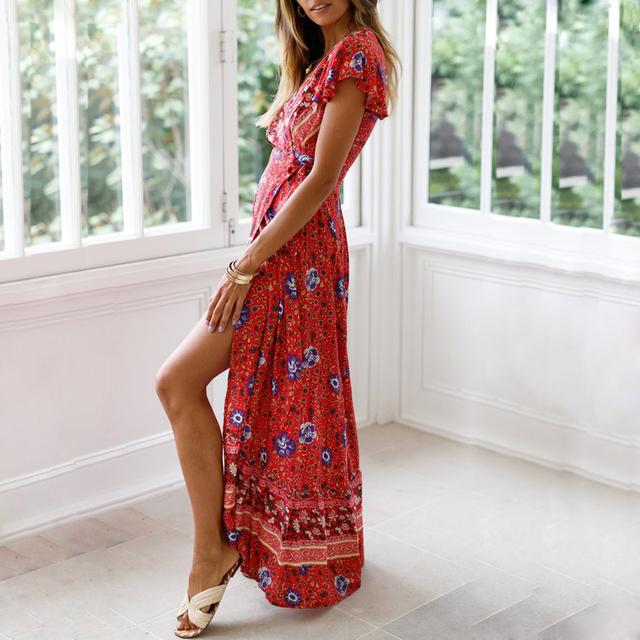 Floral Print Beach Summer Dress