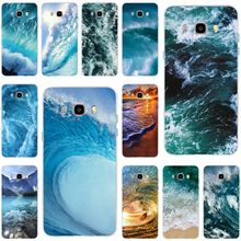 Ocean blue wave sea pattern Cover Soft Silicone TPU Phone Case For Samsung Galaxy S6 S6edge S7 S7edge S8 S9 Plus A5 J5 J7 2016(China)