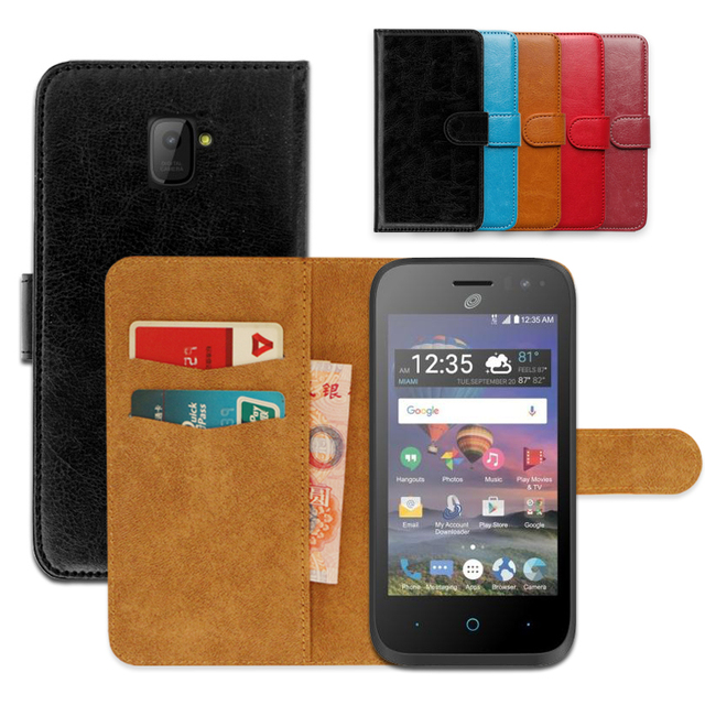 official photos ef4ae 4bc00 US $3.99 20% OFF|Luxury PU Leather Exclusive Slip resistant Flip wallet  case for ZTE Jasper LTE Ultra thin Phone Cover,book case-in Wallet Cases  from ...