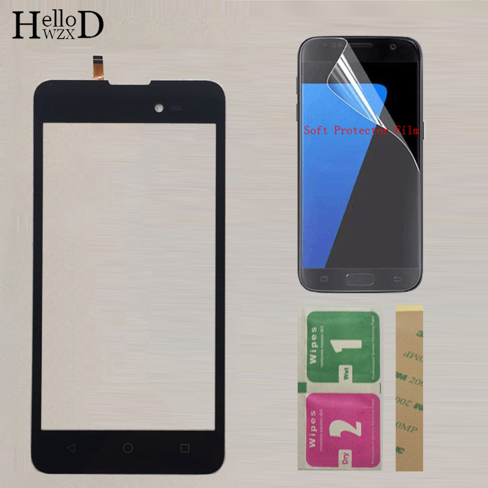 Phone Touch Screen Panel For BQ BQ-5035 Velvet BQ 5035 BQS 5035 Touch Screen Digitizer Panel Front Glass Sensor +Protector Film