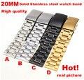 Alta qualidade 1 PCS 20 MM Sólido Aço Inoxidável Relógio banda pulseira de Relógio 4 cores disponíveis-123102