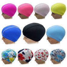 Elastic Waterproof PU Fabric Protect Ears Long Hair Sports Swim Pool Hat Swimming Cap Free size for Men & Women Solid Color 2017 new summer women sports swim hat fold swimming cap quick dry swimming hats for draped strentch long hair free shipping