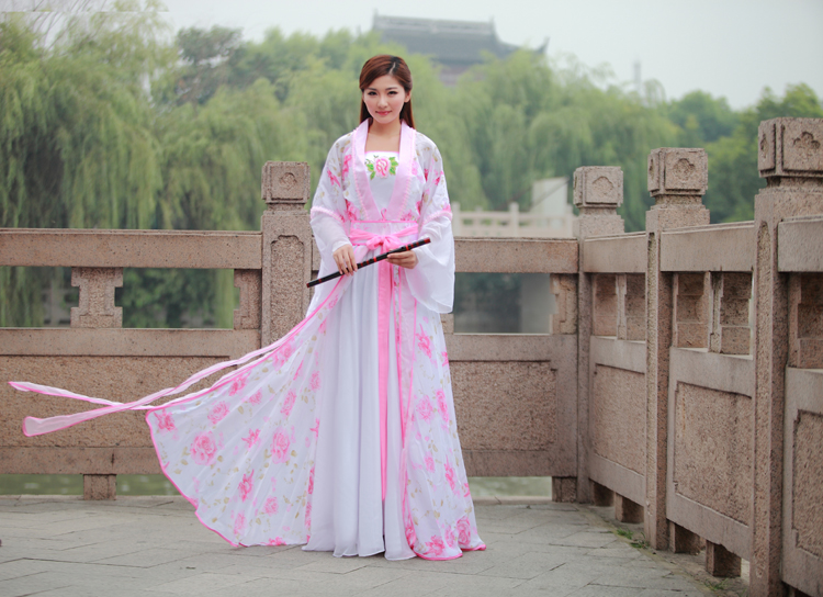 b992eefb8 Free shipping Chinese Ancient Costume women fairy hanfu dress tang dynasty  suit female cosplay costumes stage clothing set