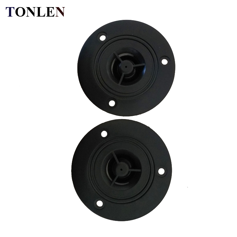 TONLEN 2PCS 3 inch 74mm Tweeter Speaker Stereo Speakers Unit 4 ohm 30 W Loudspeaker Super Tweeter Car Pure HIFI Tweeter speaker