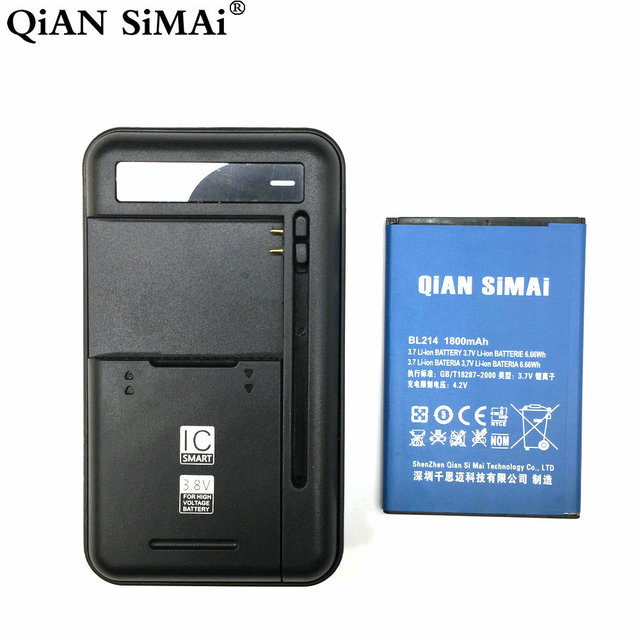 QiAN SiMAi  Universal battery Charger+1PCS BL214 battery For Lenovo A300T A269I A208t A218t A269 A305E A316 A360E A316I A66 A278