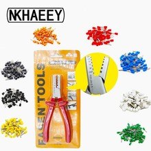 100PCS Tube insulating Terminal block and crimping pliers Insulated Cable Wire Connector Insulating Crimp Connect
