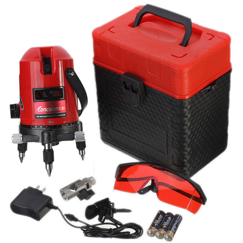 5 Line 6 Point Auto Rotary Laser Level Professional Measure 4V1H Self Leveling