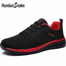Hundunsnake Summer Men's Sneakers Men Running Shoes Sports Shoes Men Sport Shoes Breathable Chaussure Homme Black Footwear A-015