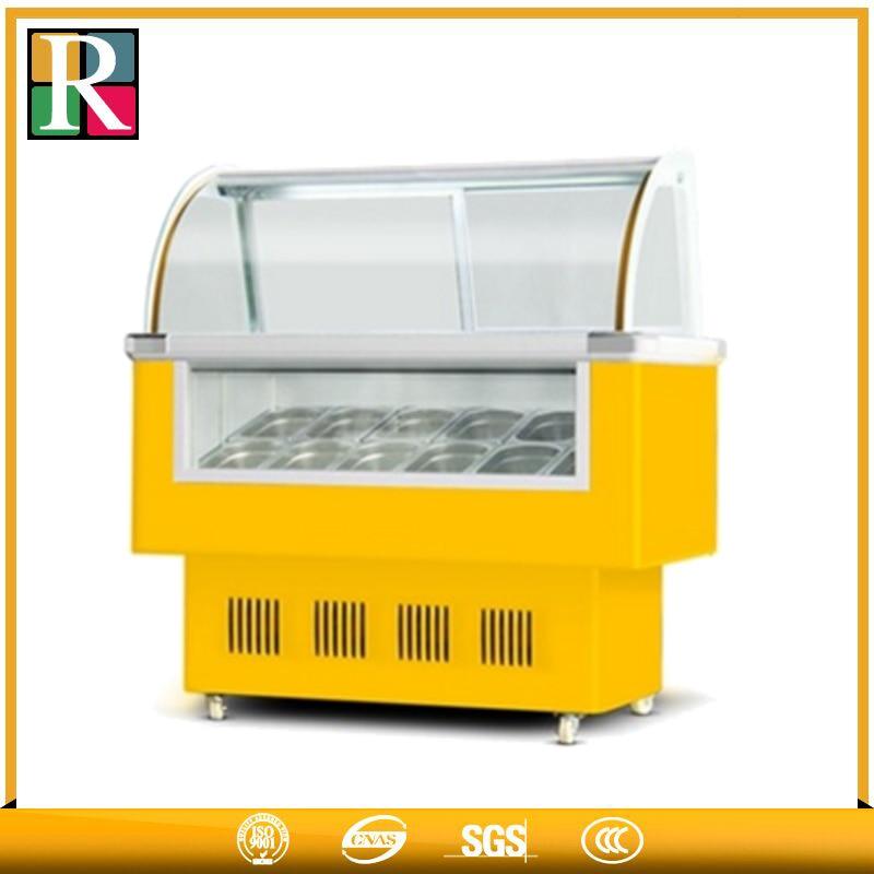 Factory Price -18 Degrees Ice Cream Freezer Cabinet/ice Cream Topping Display/mini Ice Cream Display Freezer For Jackline