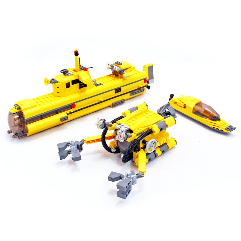 Compatible Legoe Technic Creative model 24012 673pcs Underwater Explora Ship building blocks 4888 Bricks toys for children 8 in 1 military ship building blocks toys for boys