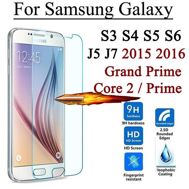 2.5D 9 H Ekran Koruyucu Temperli Cam Samsung Galaxy Grand Için Başbakan Çekirdek 2 S3 S4 S5 S6 J5 J5008 J7 J7008 2015 J1 mini 2016