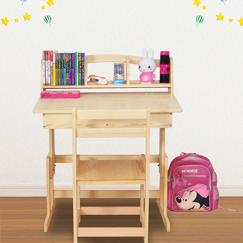 hogar yat escritorio y sillas para los nios aprender aprendizaje kit de escritorio de madera con estantes puede levantar hijos de escritorio en nios mesas
