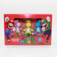 Super Mario Bros Action Figure Yoshi 3 Pack Collection 3pcs Pack 2 5inch In Color Box