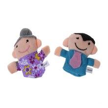 16 шт. история пальчиковые куклы 10 животных 6 человек членов семьи развивающие игрушки