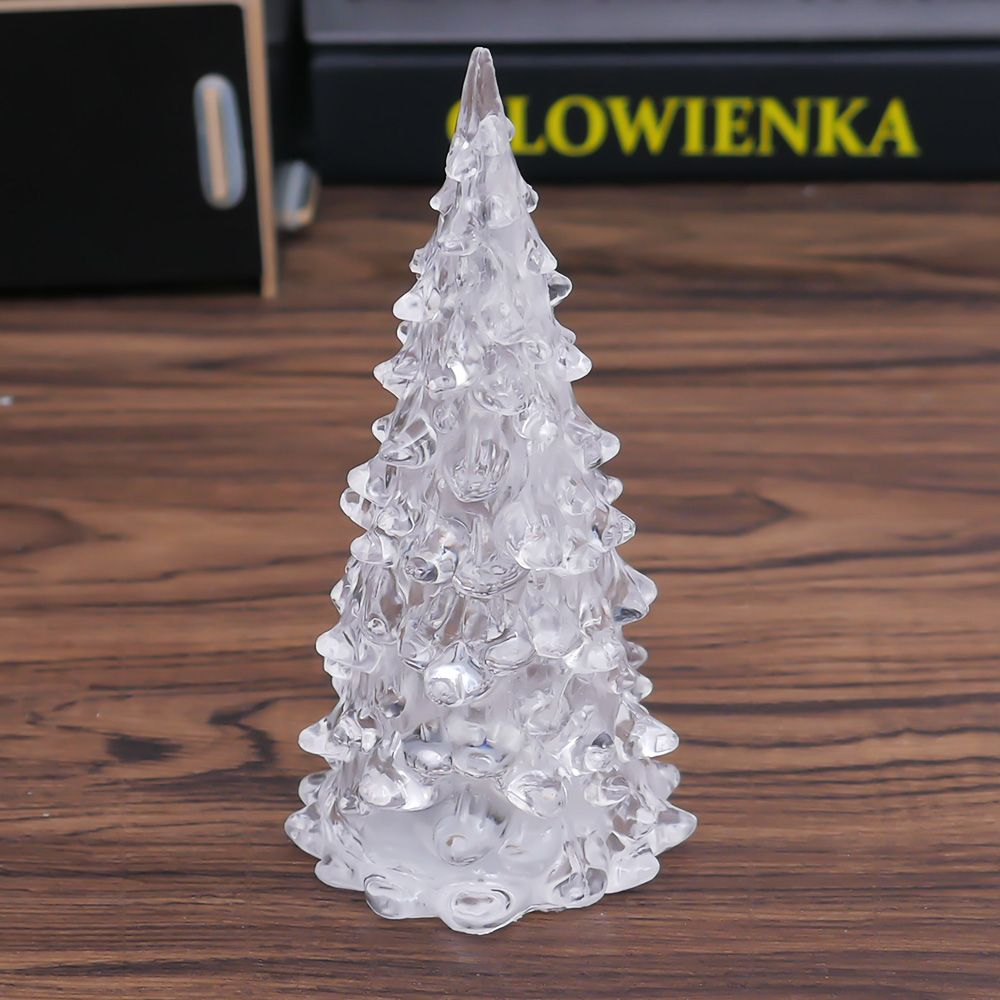 LED Crystal Color Changing Mini Christmas Tree Night Light ...