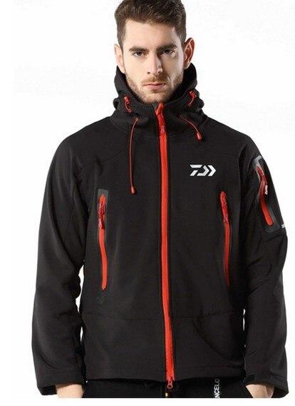 ФОТО 2017 Autumn Winter New DAIWA Dawa Men Jackets Softshell Waterproof Windproof Breathable Fishing Jacket Thick Thermal Size M-2XL
