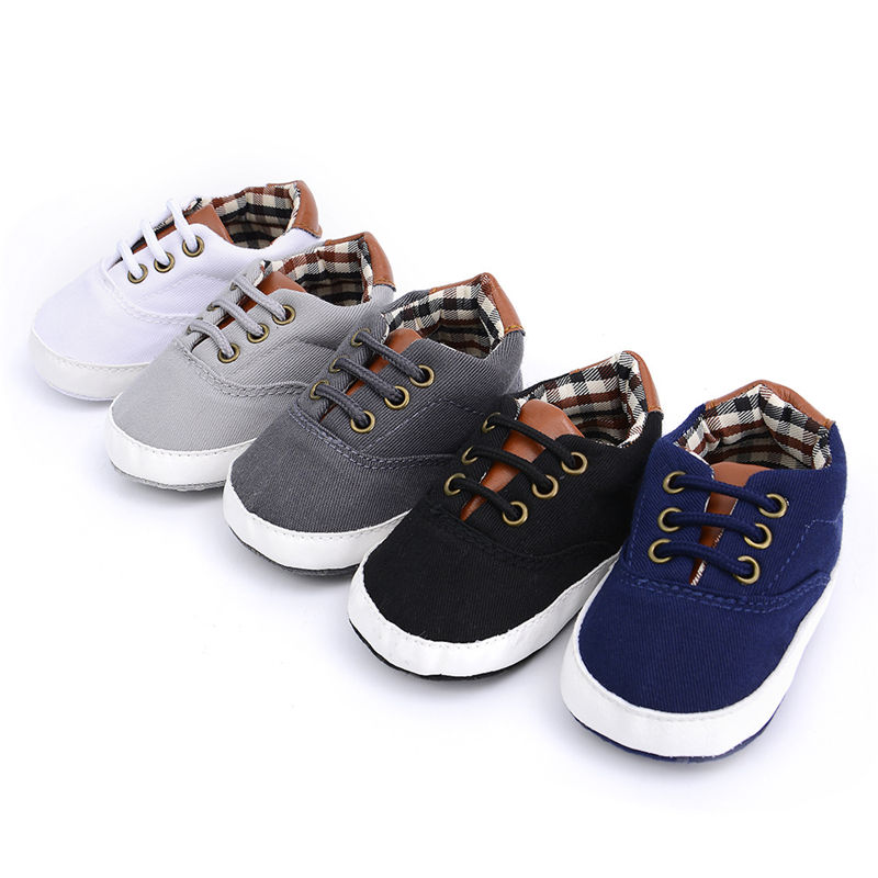 Newborn Baby Boys Girls Soft Sole Crib Shoes Cute Boots Anti-slip Sneakers 0-18M