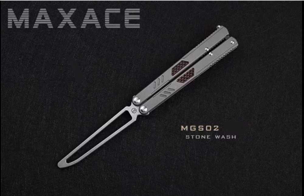 Maxace Convenant Gauss Folding Practice BALISONG Trainer Training Blunt  Knife Free Shipping