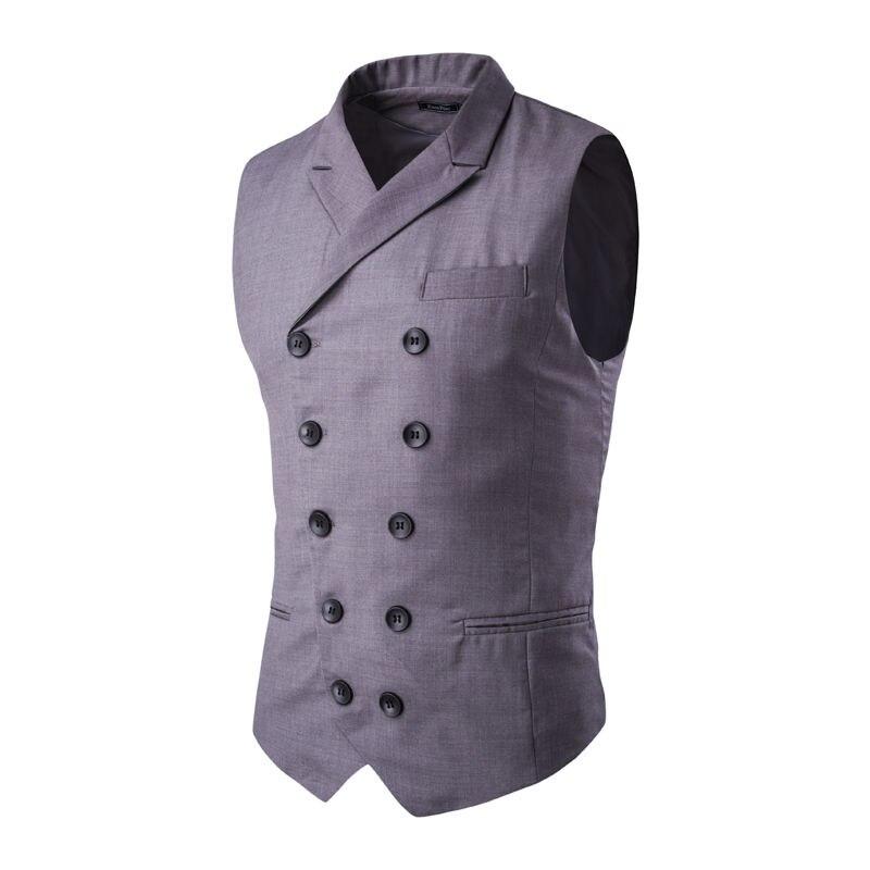 Fit De Gilet Robe Gilets Mode Sans Automne Double D'affaires Nouveaux Costumes Manches Hommes Breasted Slim Personnalisé 5qR1FRP4