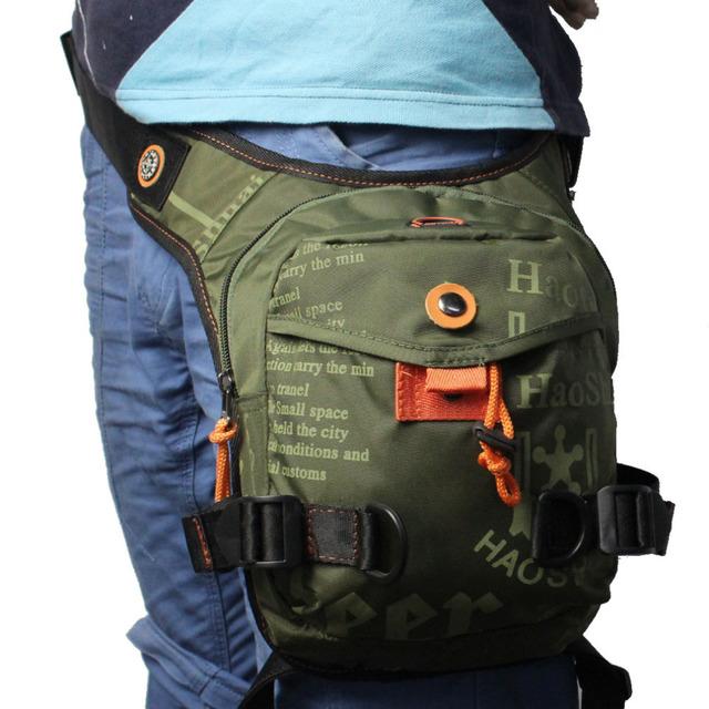 Men's Waterproof Nylon Ride Leg Bag Drop Fanny Waist Belt Hip Bum Motorcycle Riding Waist Leg Bag Messenger Shoulder bag