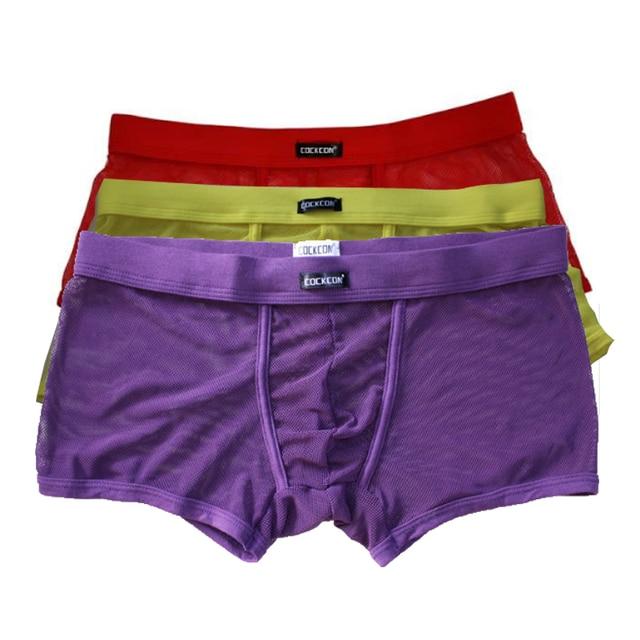 0c406ec9846 Cockcon Transparent Sexy Panties Men Mesh Net Mens Boxers Underwear Brand  See Through Shorts Gay Fishnet Male Underpants Convex
